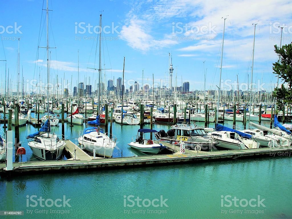 Auckland-City of Sails stock photo