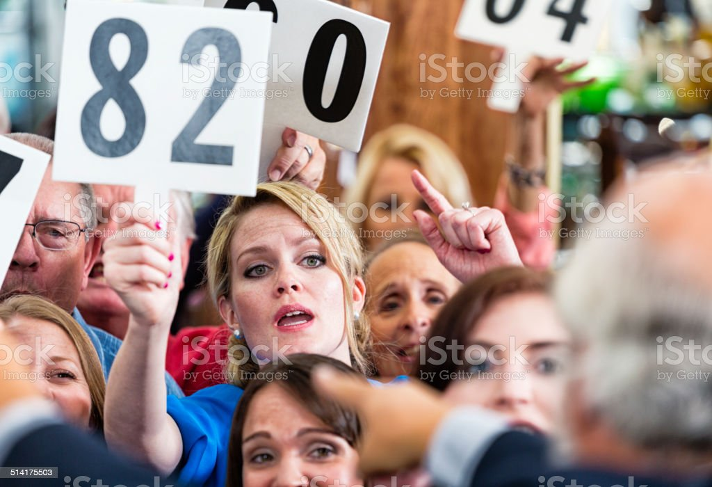 Auction Crowd royalty-free stock photo