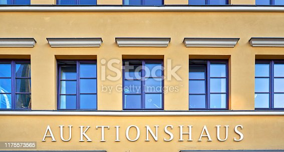 istock Auction house as text. - Letters with Auktionshaus Means Auction house 1175573565