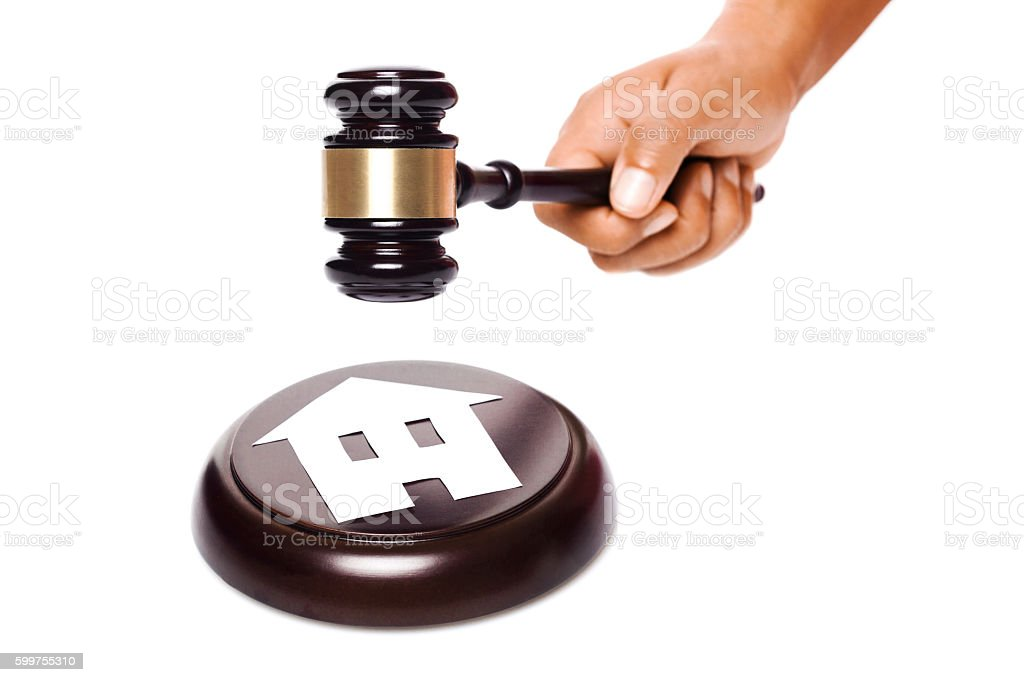 auction of real estate stock photo