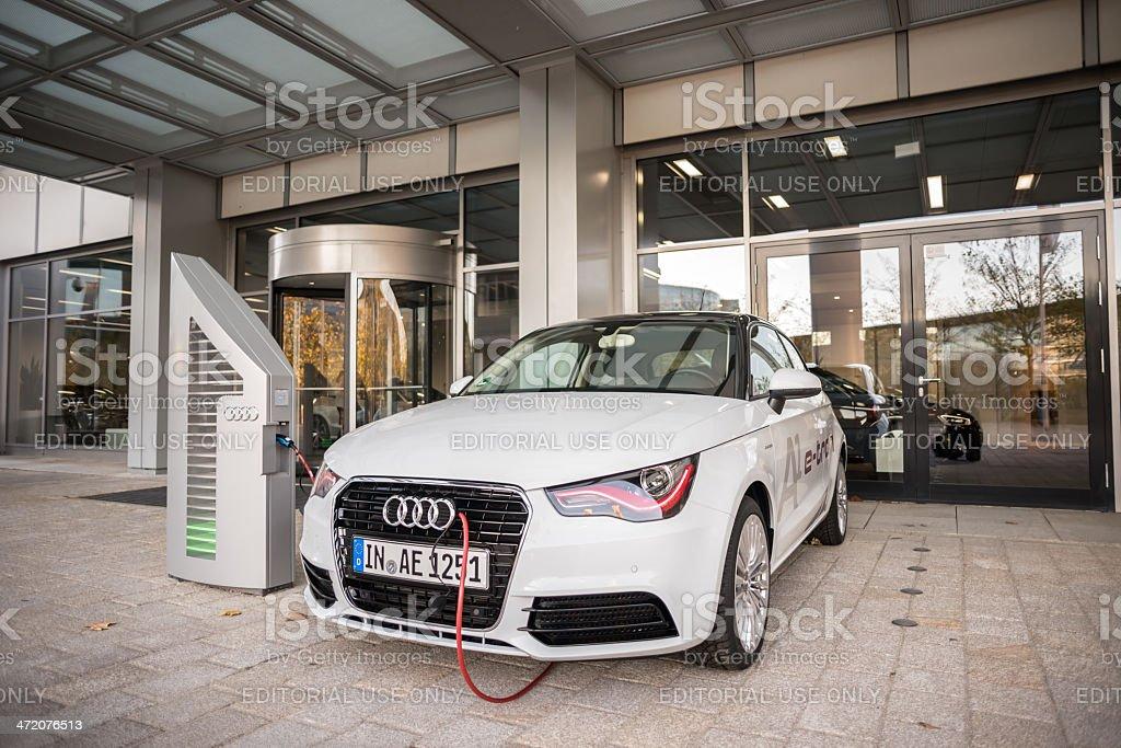 Audi A1 e-tron Ingolstadt, Germany- November 5, 2013: Audi A1 e-tron Alternative Fuel Vehicle Stock Photo