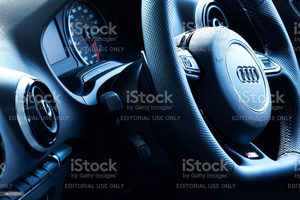 Audi A3 Interior stock photo