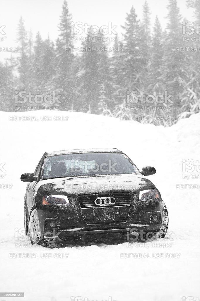 Audi A Quattro Snow Stock Photo IStock - Cascade audi