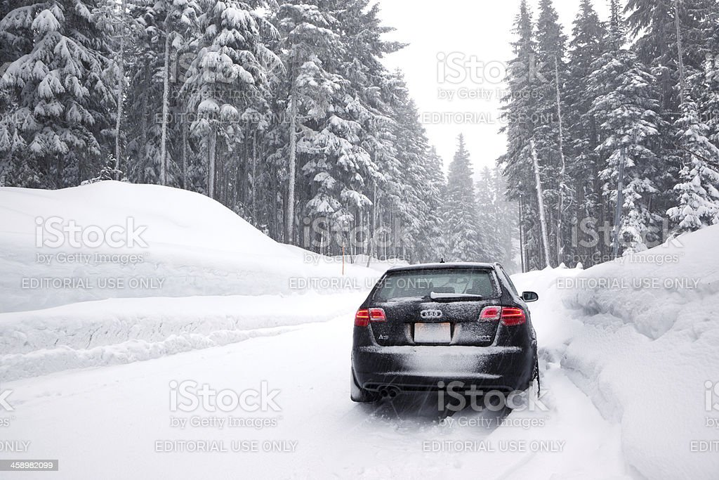 Audi A3 Quattro Winter. stock photo