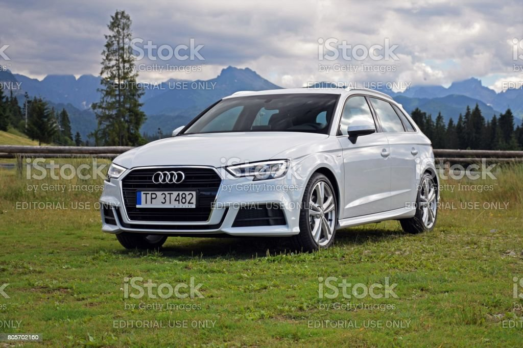 Audi A3 vehicle stock photo