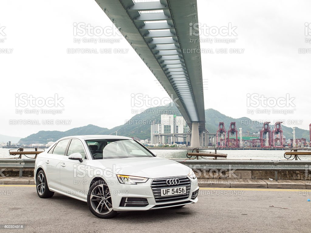 Audi A4 2016 Test Drive Day stock photo