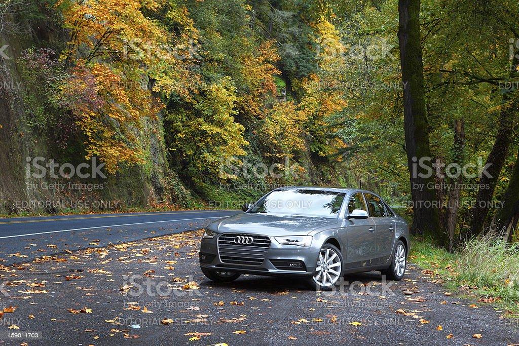 Audi A4 quattro 2013. stock photo