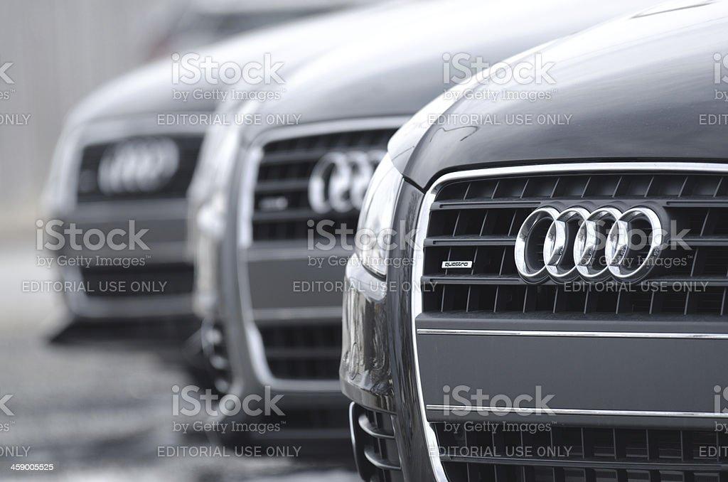 Audi A4 Quattro Sedans stock photo