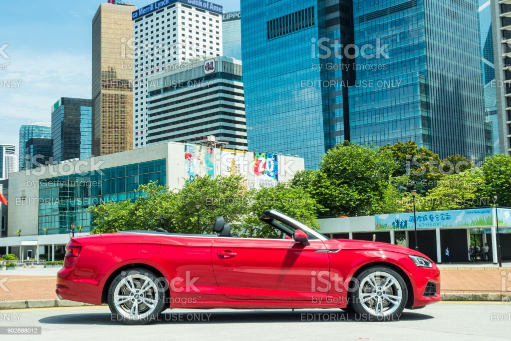 Audi A5 Cabriolet 2017 Test Drive Day stock photo
