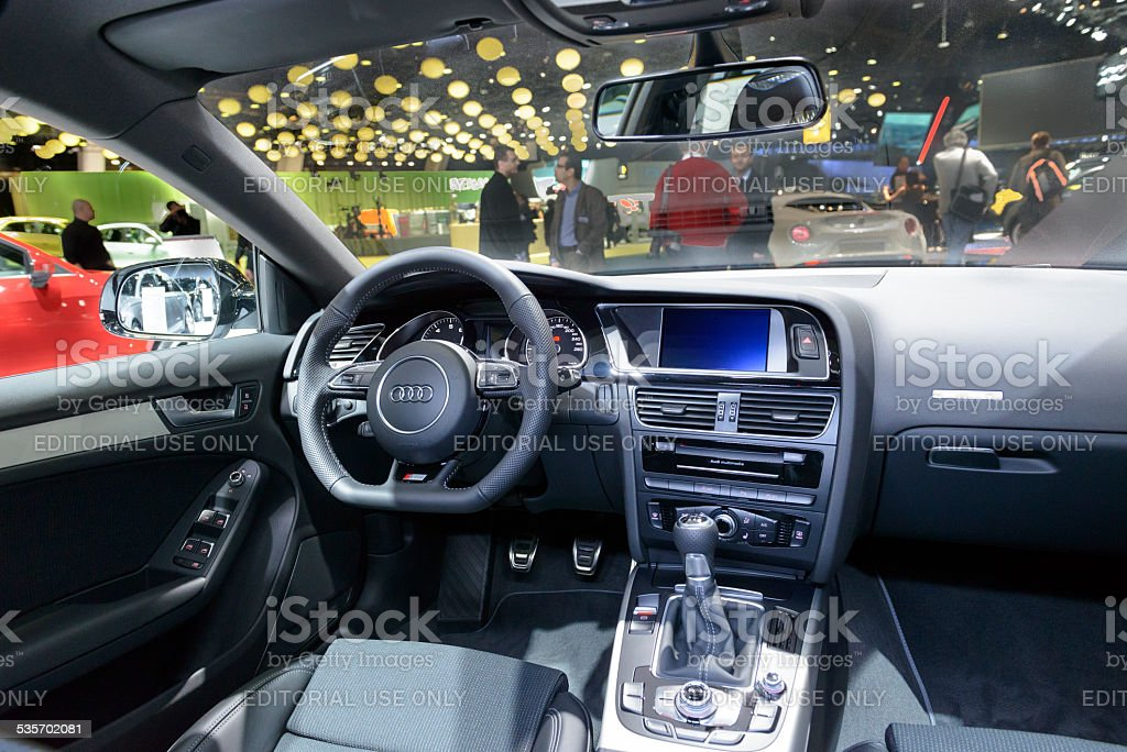Audi A5 Sportback Interior Royalty Free Stock Photo