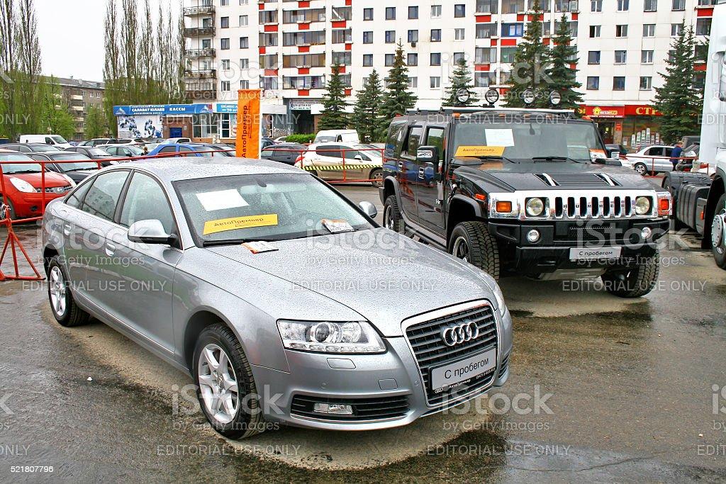 Audi A6 Und Hummer H2 Stock Fotografie Und Mehr Bilder Von Alt Istock