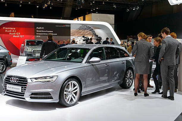 Audi A6 Avant luxury estate car stock photo