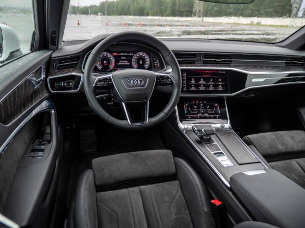 Audi A6 interior stock photo