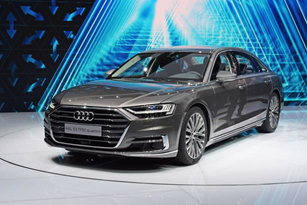Cтоковое фото Audi A8 on the motor show