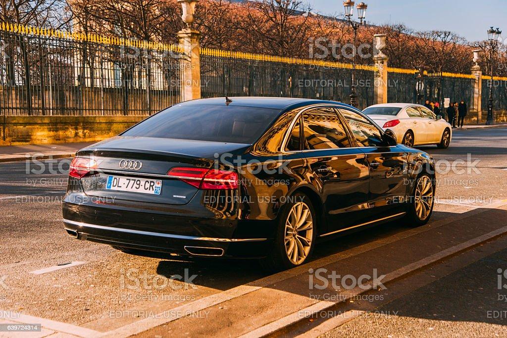 Audi A8 stock photo