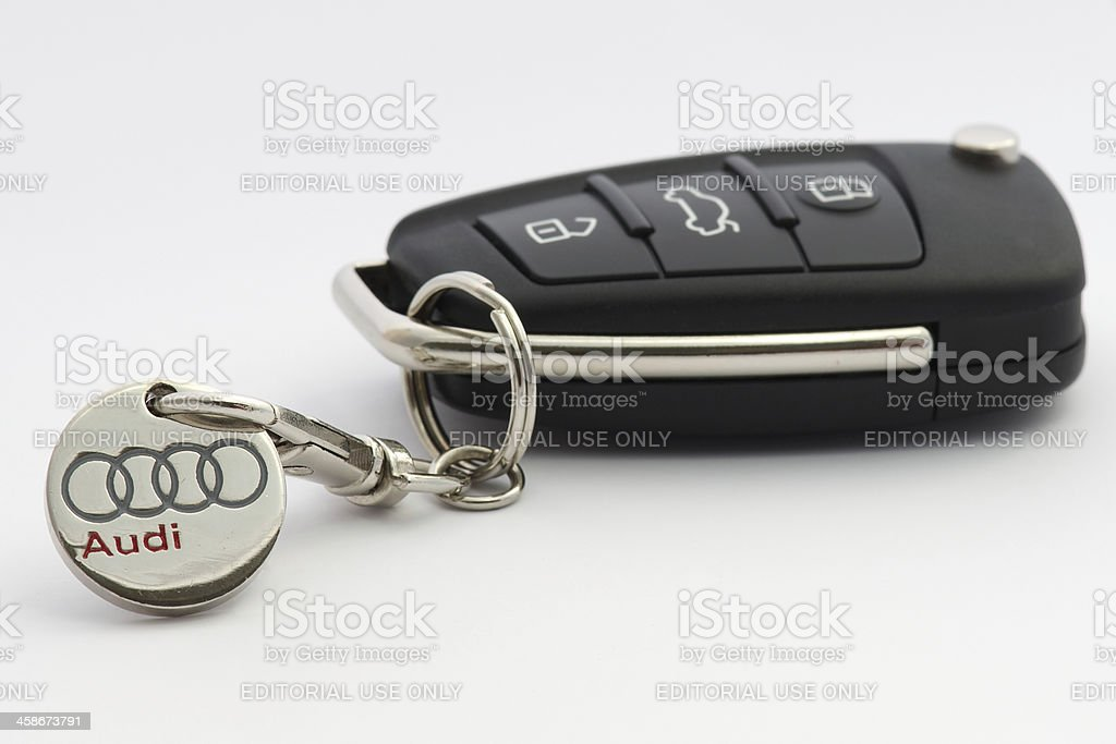 Audi car keys stock photo