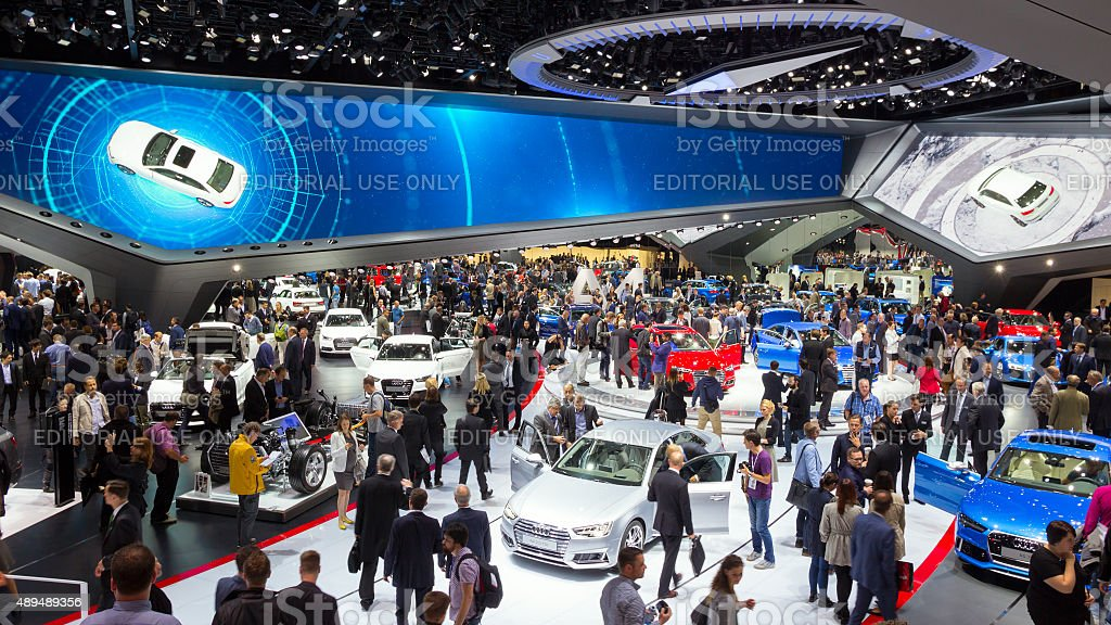 Audi Hall IAA motor show stock photo