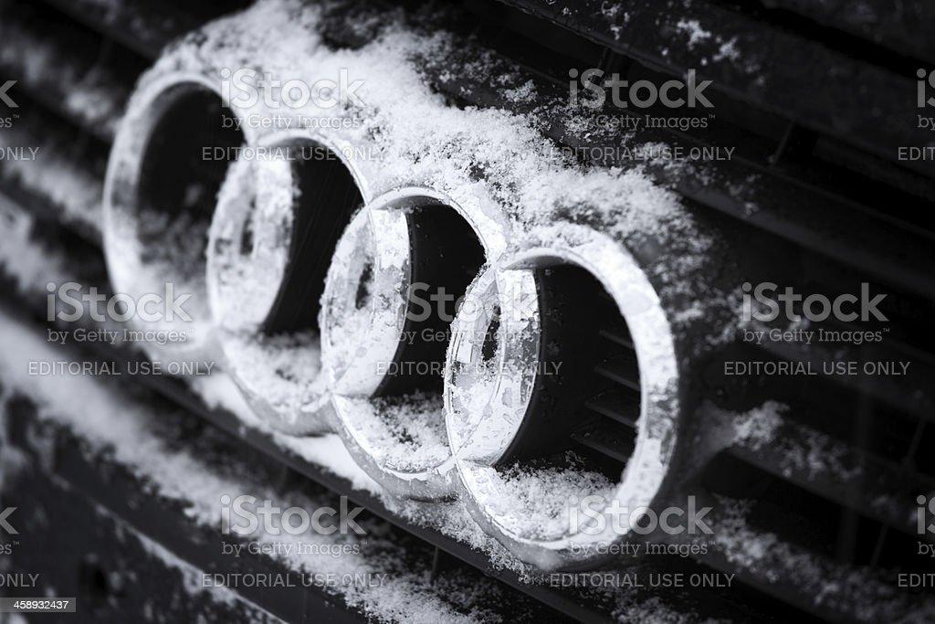 Audi Logo Rings. stock photo