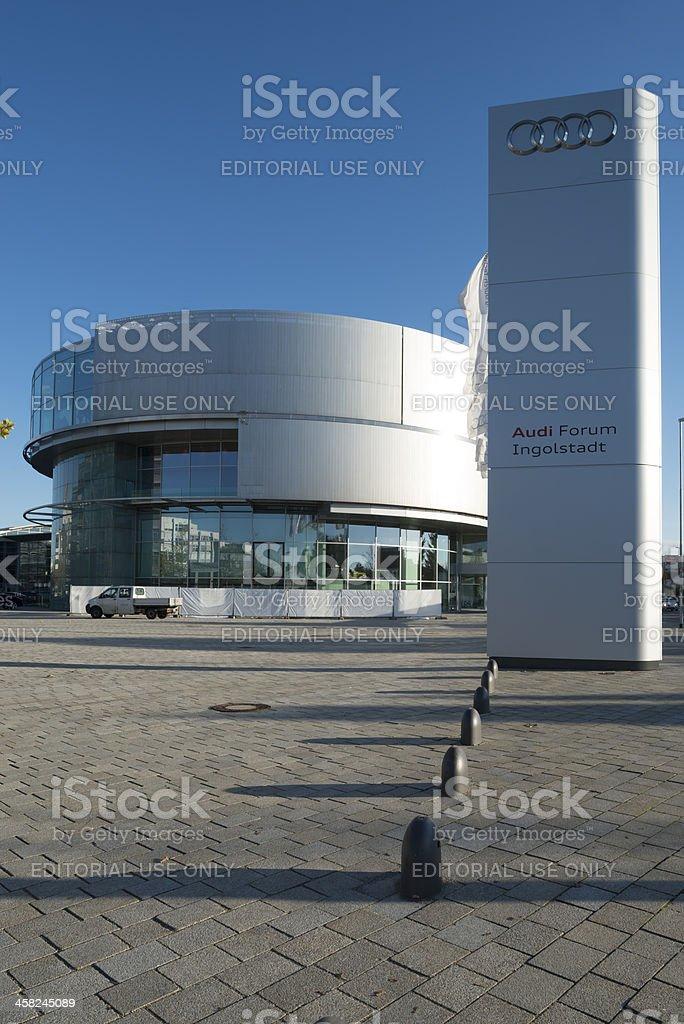 Audi Museum Forum Ingolstadt royalty-free stock photo