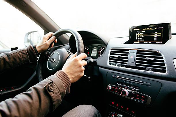 Cтоковое фото Audi Q3 интерьер современный, роскошный автомобиль