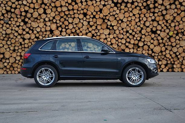 Audi Q5 on the road stock photo