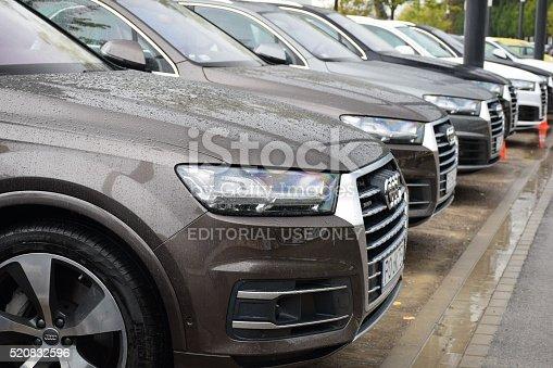 istock Audi Q7 vehicles on the parking 520832596