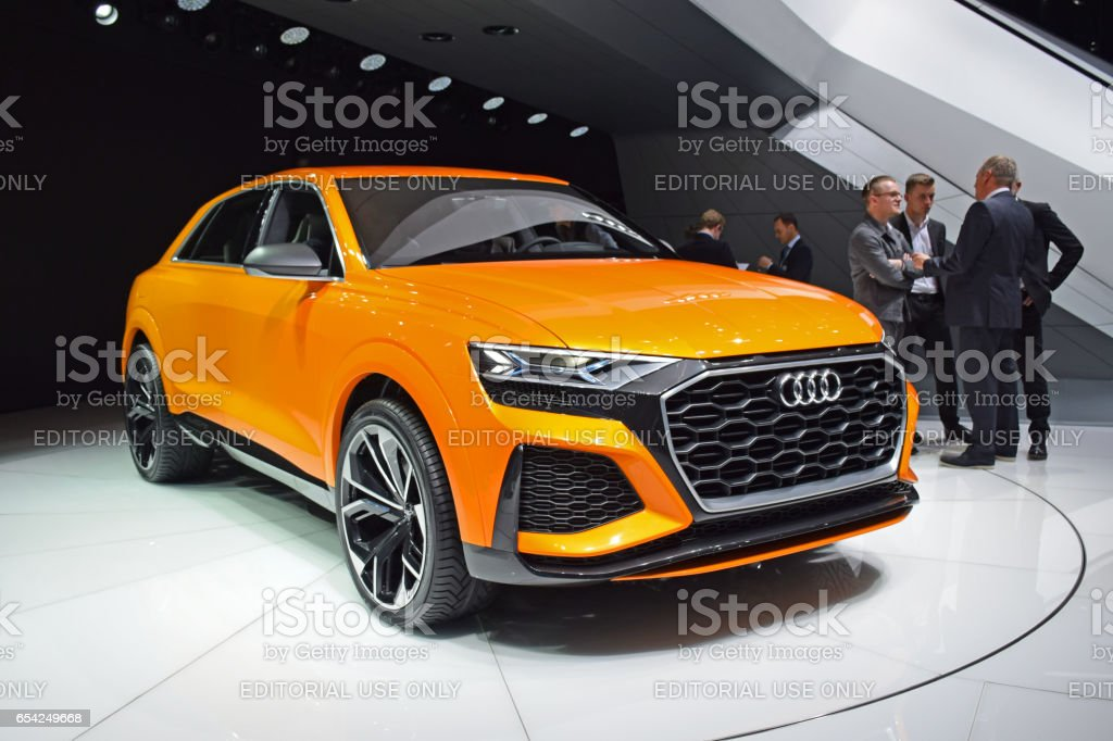 Audi Q8 Sport Concept on the motor show стоковое фото