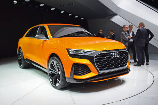 Audi Q8 Sport Concept on the motor show stock photo