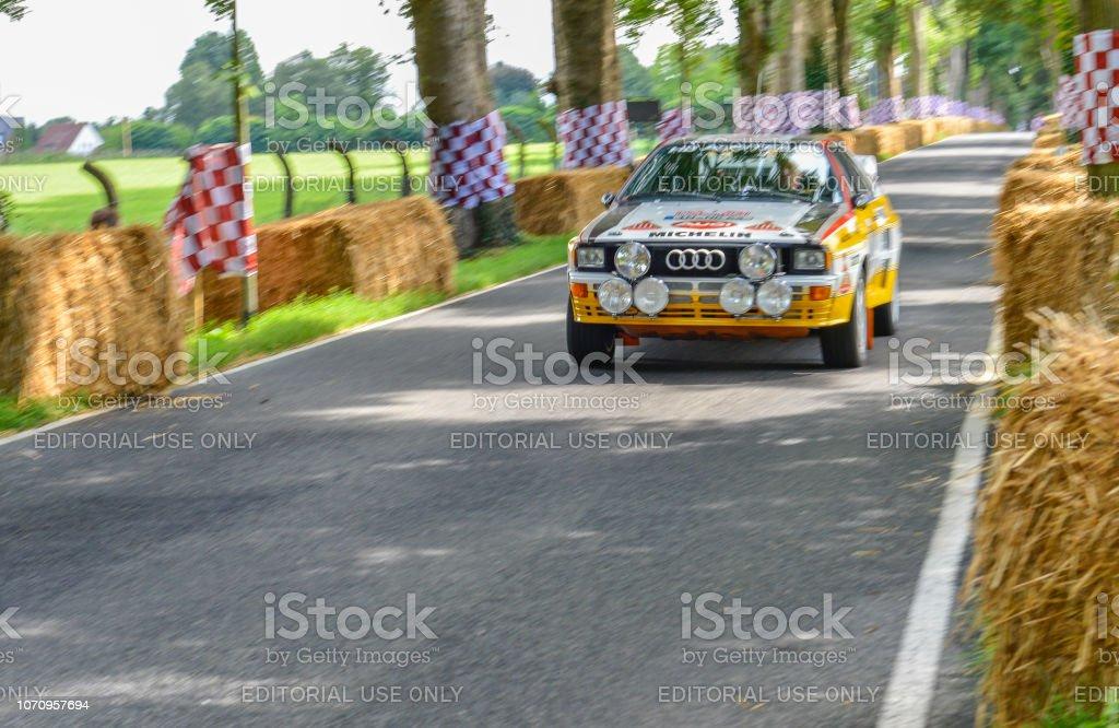 Audi Quattro classic coupe rally car stock photo