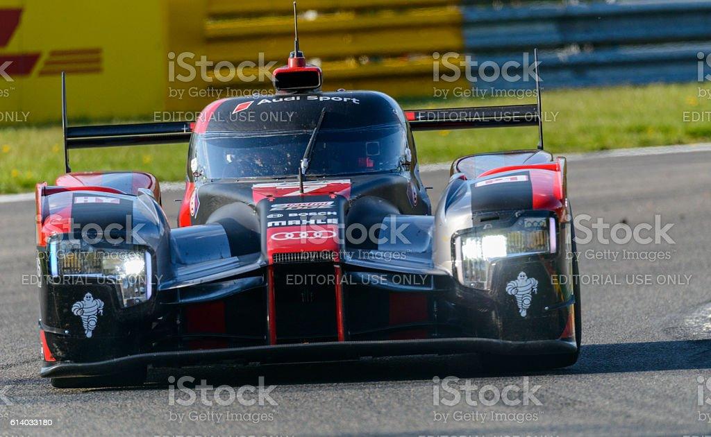 Audi R Etron Quattro Le Mans Prototype Race Car Stock Photo More - Audi r18 e tron quattro