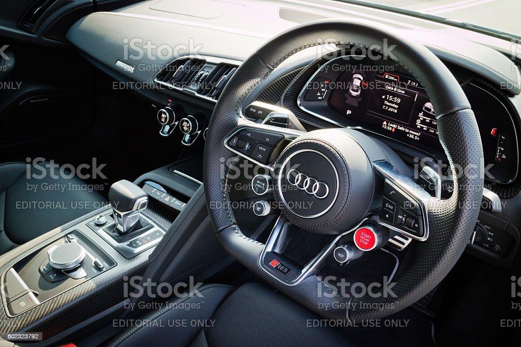 Audi R8 2016 Interior stock photo