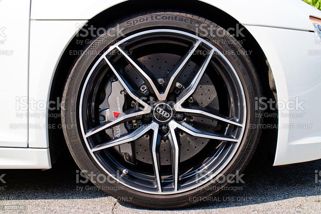 Audi R8 2016 Wheel stock photo