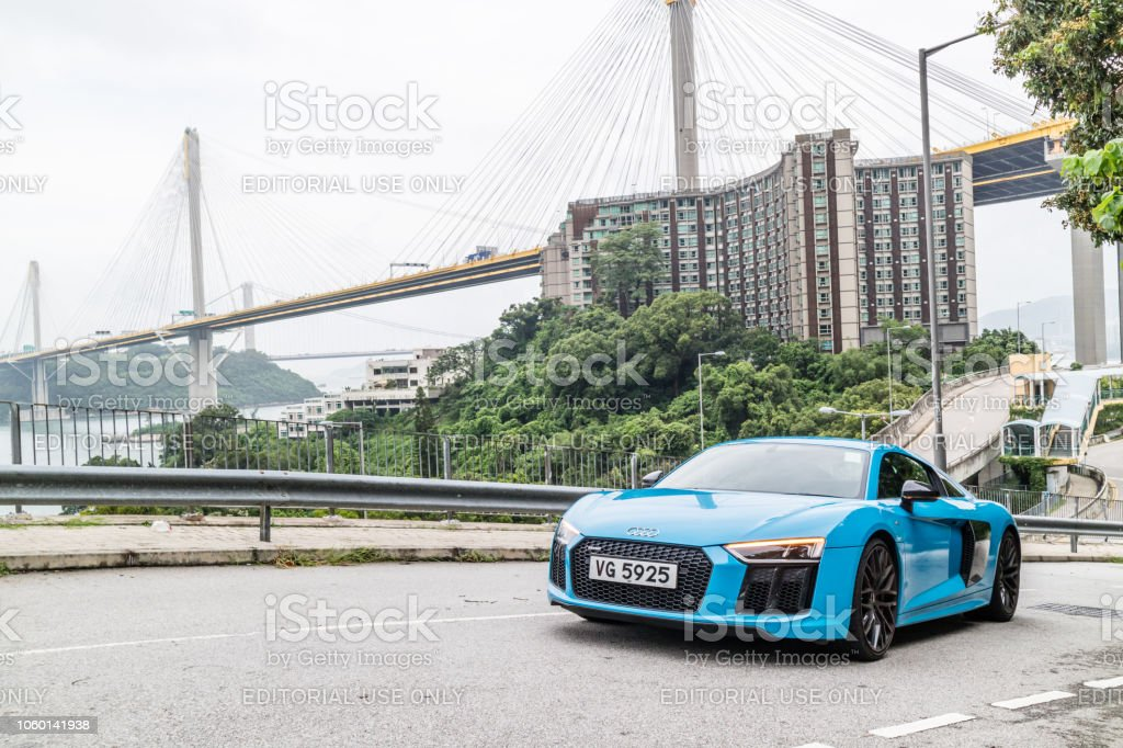 Audi R8 2018 Test Drive Day stock photo
