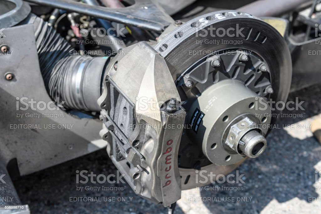 Audi R8 Le Mans Prototype sports-prototype race car brake stock photo