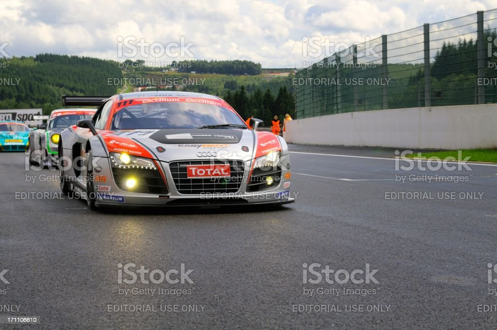 Audi R8 LMS race car stock photo