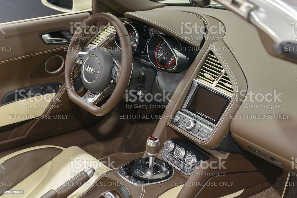 Audi R8 Spyder interior stock photo