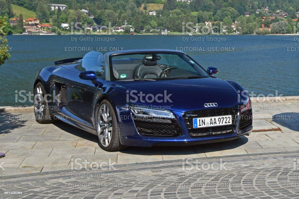 Audi R8 Spyder on the street stock photo