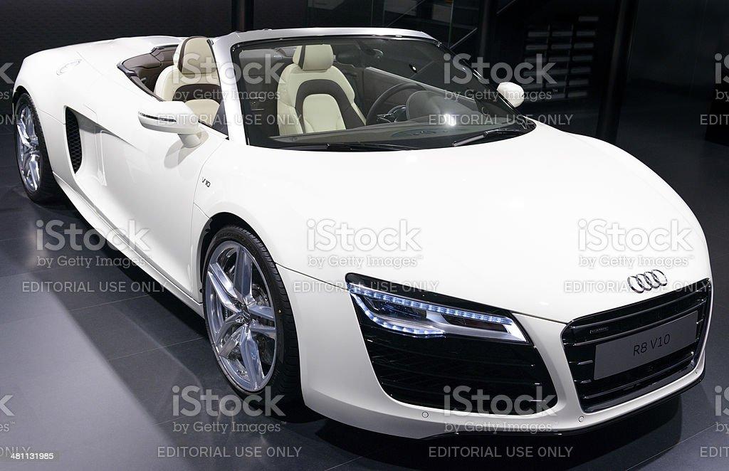 Audi R8 Spyder stock photo