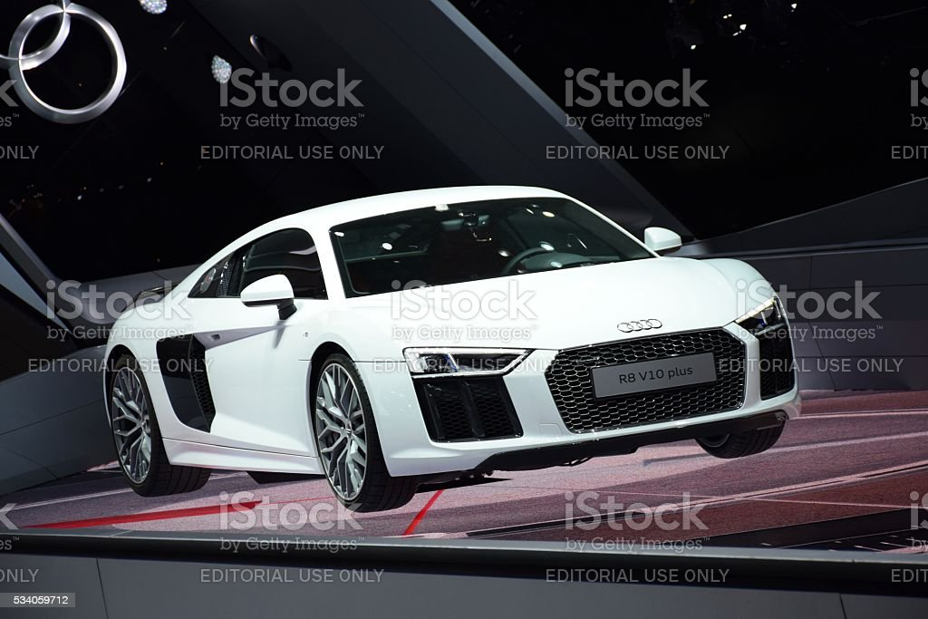 Audi R8 V10 Plus stock photo