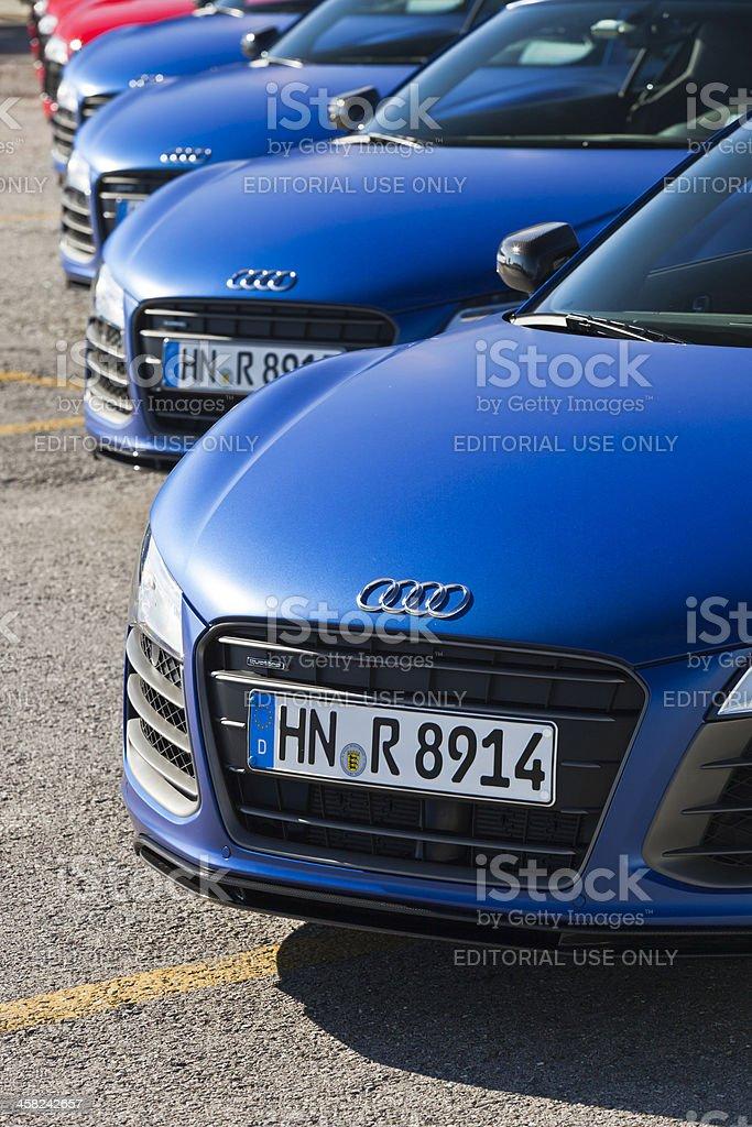 Audi R8's stock photo