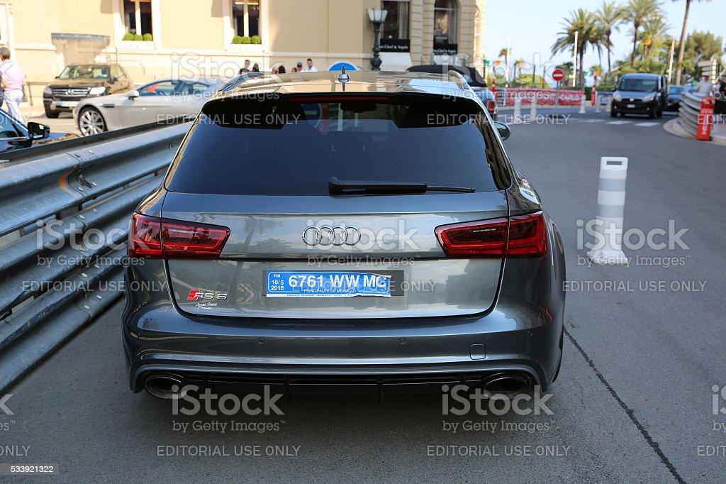 Audi RS 6 Quattro in Monaco stock photo