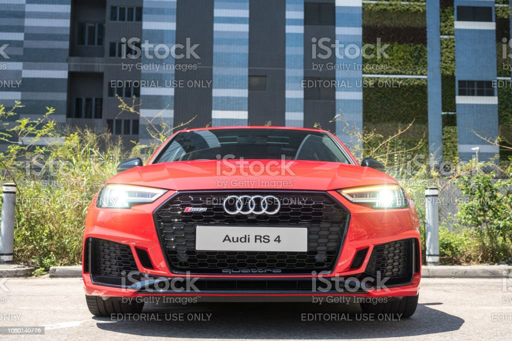 Audi RS4 2018 Test Drive Day stock photo
