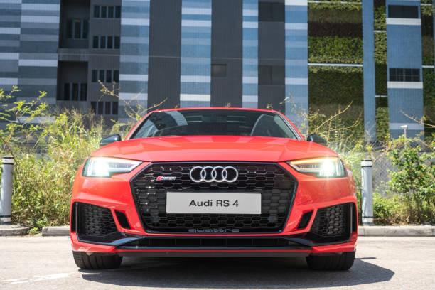 Cтоковое фото Audi RS4 2018 Test Drive Day