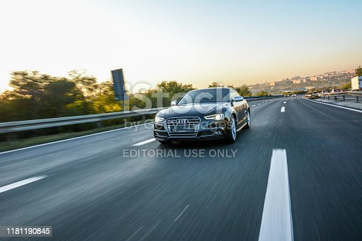 Audi S5  Shoot on highway in Belgrade, Serbia.  October 12, 2019