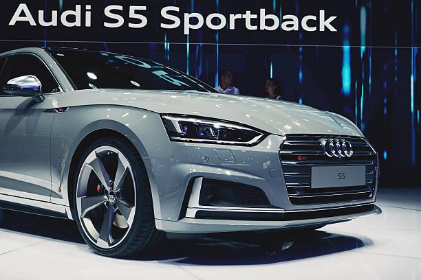 2017 audi s5 sportback - audi s5 coupe stock-fotos und bilder