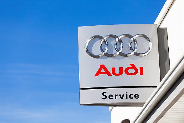 Audi Service Center stock photo