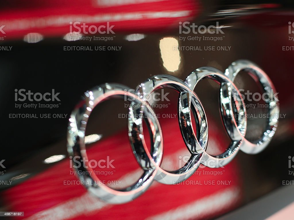 Audi sign stock photo