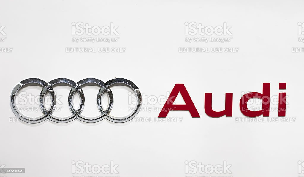 Audi Trademark stock photo