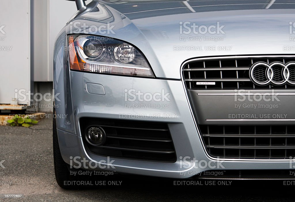 Audi TT at Car Dealership stock photo