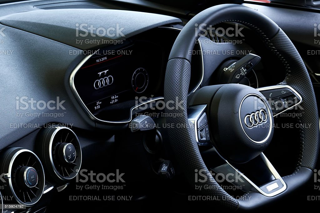 Audi TT Dashboard stock photo